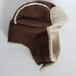 Life is Good brown embroidered trapper winter hat